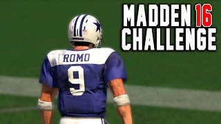 Tony Romo Kick Return! - Kick Returning With Quarterbacks! - Madden 16 NFL Challenge!