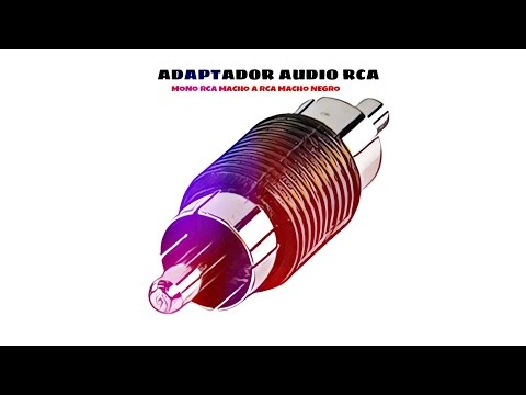 Video de Adaptador audio mono RCA macho a RCA macho  Negro