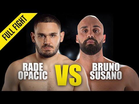Rade Opacic vs. Bruno Susano   ONE Championship Full Fight
