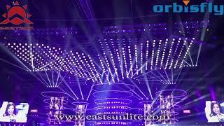 Gambar cover Eastsun Orbisfly DMX 3D LED Ball kinetic lighting DMX winch