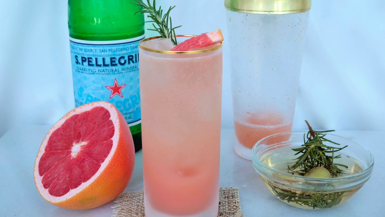 Drink Recipe: Grapefruit, Rosemary & Ginger Mocktail by Everyday Gourmet  with Blakely