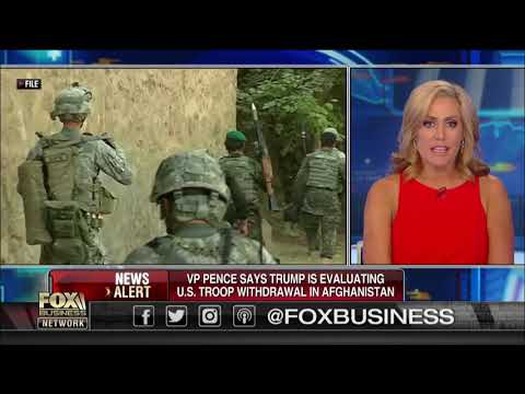 Vice President Mike Pence says Trump is evaluating US troop withdrawal in Afghanistan