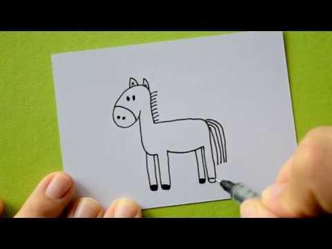 Wie male ich ein Pferd – oder Esel?