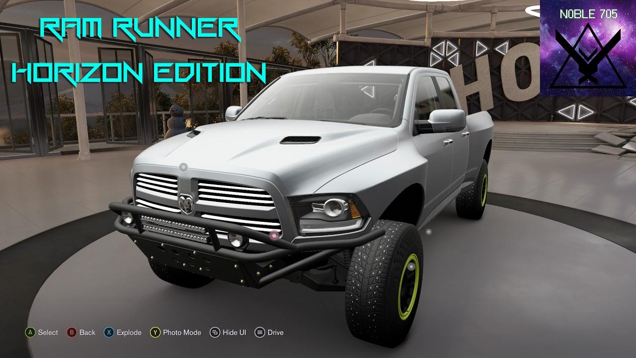Dodge Ram Runner >> Forza Horizon 3 How To Get The Dodge Ram Runner Horizon Edition