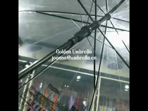 Digital printing logo clear dome umbrella frame