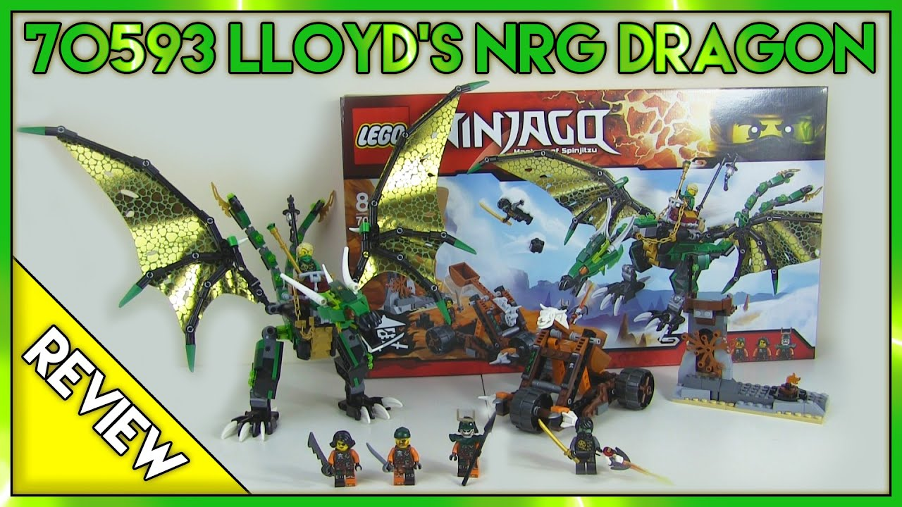 LEGO Ninjago 70593 Lloyd's NRG Dragon Review - YouTube