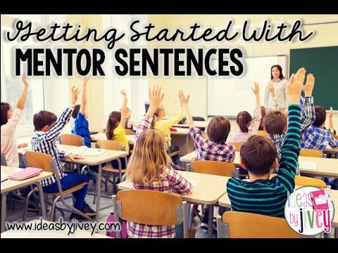 Mentor Sentences: First Week Demonstration