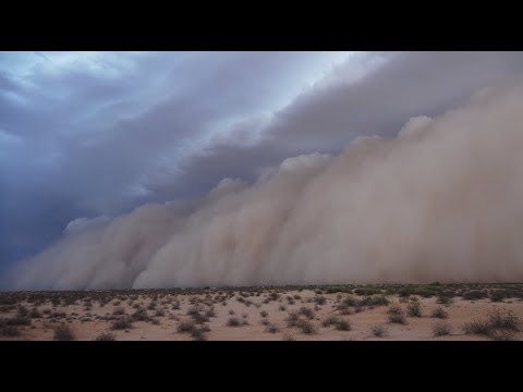 Epic Dust Storm - Gila Bend To Yuma, AZ - July 9, 2018