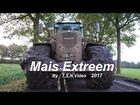 Mais hakselen 2017. Modderen Stuck in the mud| Fendt/ Krone.