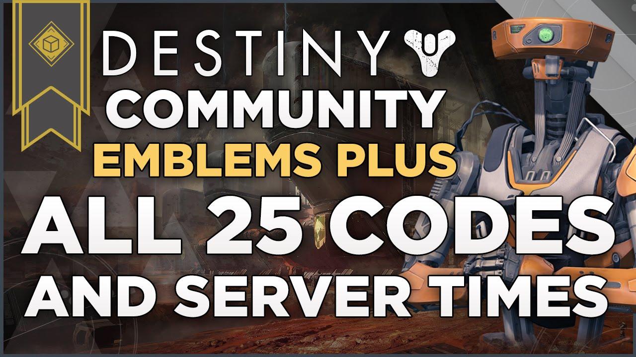 Destiny unlock able community emblems all 25 unlock codes and server