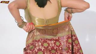 How To Wear Traditional Cotton Saree In a Very Modern Way | Learn Saree Drape For Girls (Tutorial)