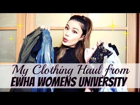 My Affordable Korean Clothing Haul from Ewha Womens University in Seoul, South Korea