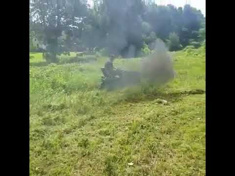 Rolling coal and mowing grass--the future is now! - YouTube
