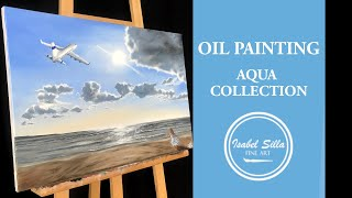 "Photorealistic oil painting ""Catching dreams"" 