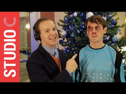 Goalkeeper Scott Sterling Gets a Christmas Present