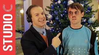 goalkeeper scott sterling gets a christmas present