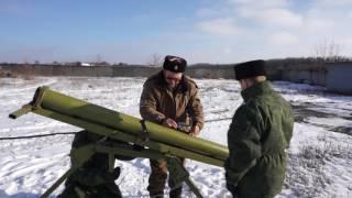 Обучение расчётов реактивной артиллерии молодых казаков