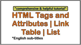 HTML tags and attributes tutorial