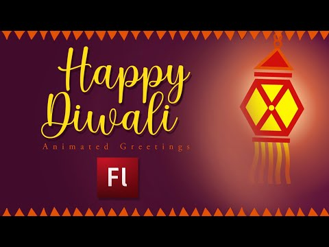 Flash Animation Tutorial - Animate Diwali Greeting Card!