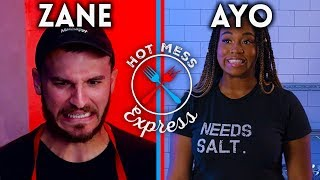 Zane Hijazi Tries to Keep Up with a Professional Chef! | Hot Mess Express | Snackable