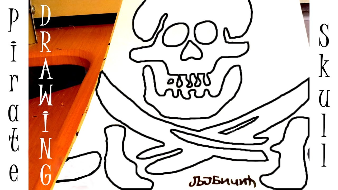 how to draw a skull step by step for beginners easy pirate skull