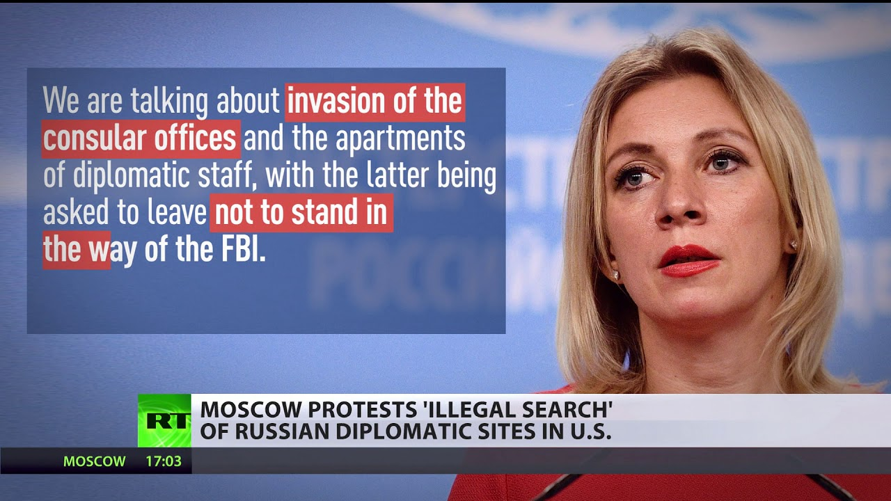 Things Too Tense: Moscow protests 'illegal search' of Russian Consulate in US