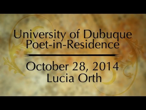 Poetry in Residence: Lucia Orth October 28, 2014