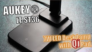 AUKEY LT-ST36 Test: Desk Lamp with wireless Charger Hands-on (Deutsch)
