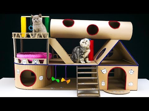How to Build Modular Cat House from Cardboard