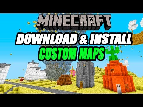 Minecraft How To Download & Install Custom Maps Tutorial