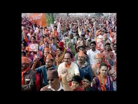 '' JAI  SHri  RAM ''  SLogans In PM MODi's Presence  At  KaLol, Gujarat