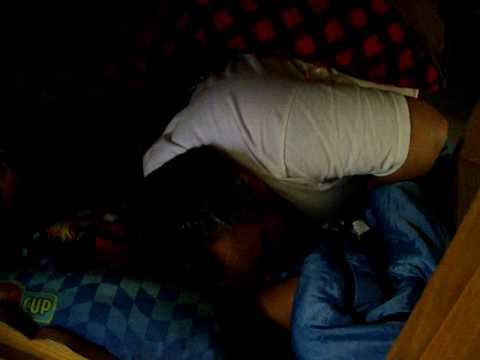 Neal Tyson sleeping in a bunk at Chemin-a-Haut Par...