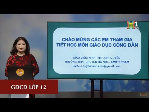 MÔN GDCD - LỚP 12   LUYỆN ĐỀ THI THPT 2020   16H00 NGÀY 28.04.2020   HANOITV