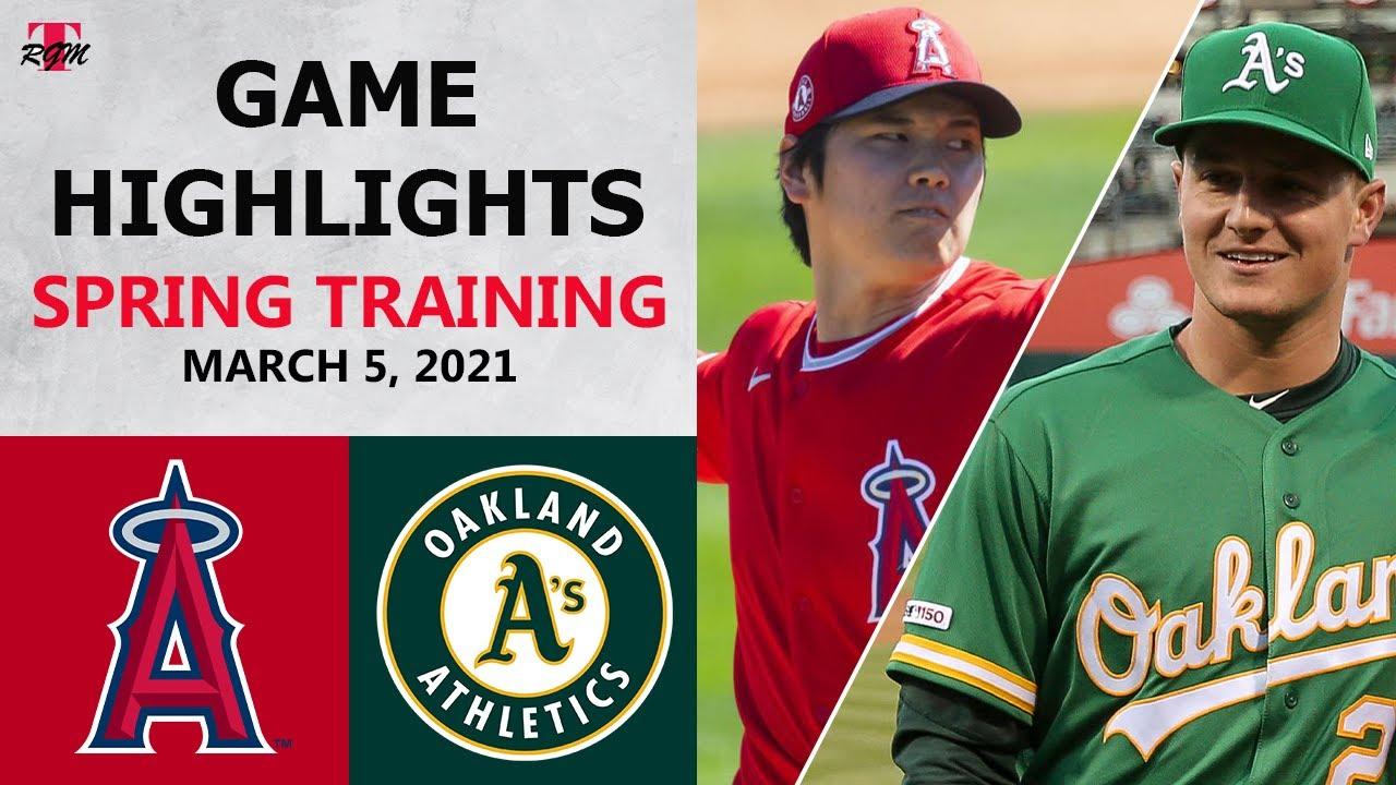 Los Angeles Angels vs. Oakland Athletics Highlights   March 5, 2021 (Spring Training)