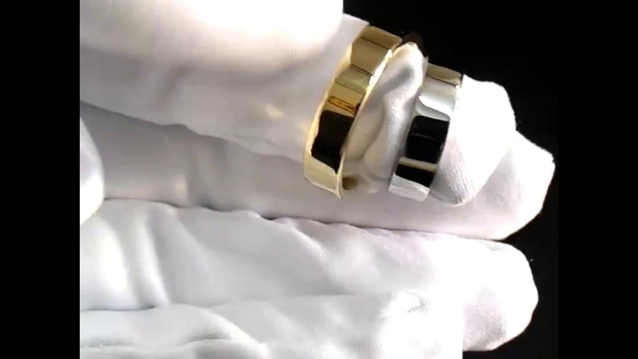 Плоские обручальные кольца из жёлтого и белого золота 585 пробы  классического дизайна ddc277beacb