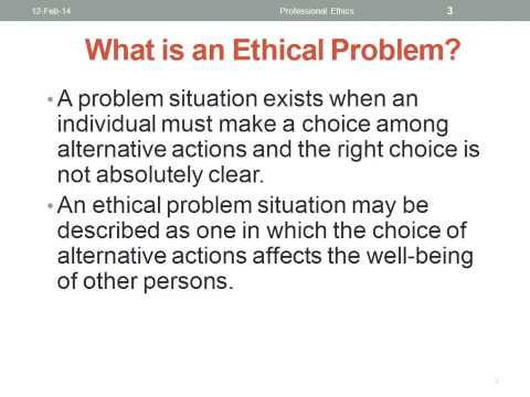 Defining an Ethical Problem in Auditing