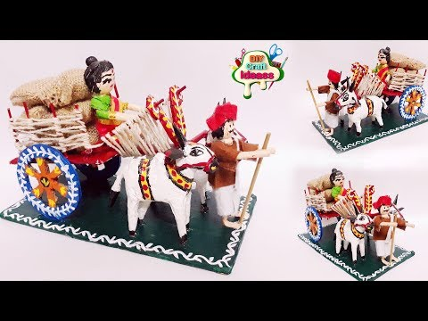 Bullock Cart   Best From Waste   Paper Bull Cart   Miniature Yeddula Bandi   Kondapalli Showpiece