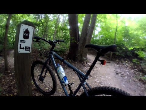 Single Speed Mountain Bike Ride Bootlegger's Run Trail Singletrack Bike Blogger