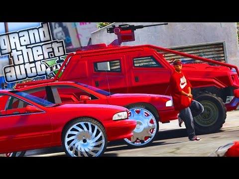 Bloods Drive-Bys, Gang Wars & Riots! - GTA 5 Gang Mod - Day 120