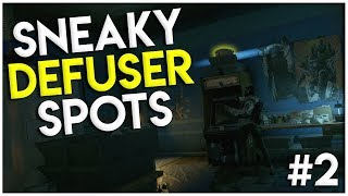 SOLO DEFUSER SPOTS!!! | Rainbow Six Siege Tips And Tricks
