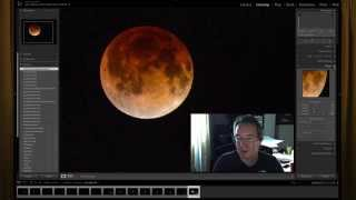 Photographing the blood red moon