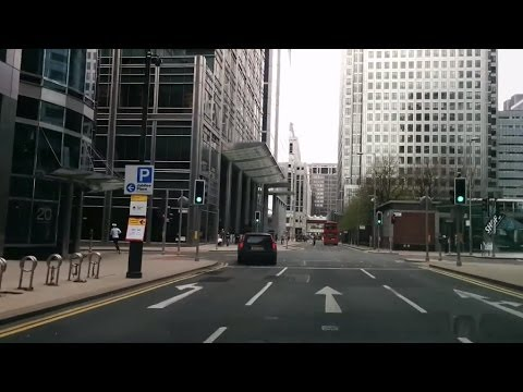 Driving in London - Canary Wharf to North Greenwich via Blackwall Tnl