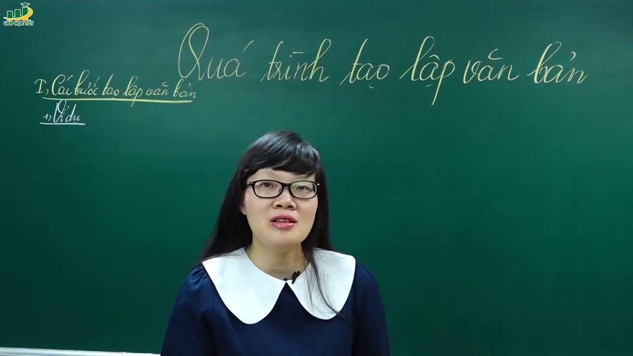 Ngữ Văn Lớp 7 – Bài giảng Quá trình tạo lập trong văn bản lớp 7|Cô Lê Hạnh