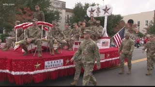 Crowds line streets of Lexington to support veterans