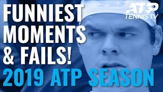 Funny ATP Tennis Moments And Fails 2019! 😂