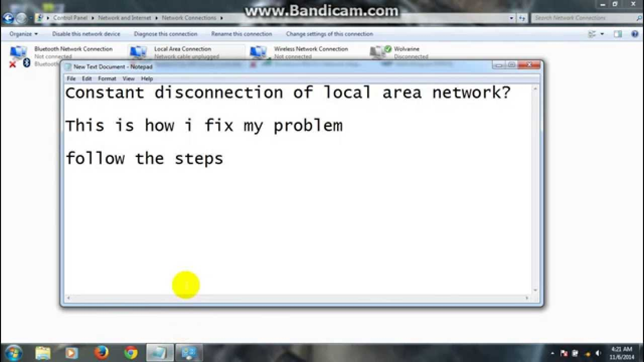 Solved] Constant disconnection of Local Area Network (wired) - YouTube