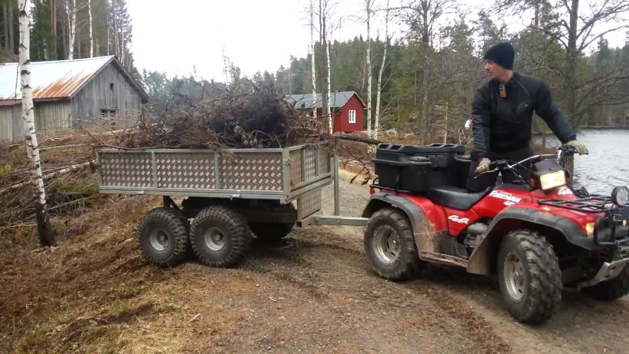 Honda Foreman With rv4000 trailer - YouTube