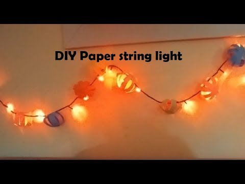 #Diy paper string light | Paper craft | paper decoration Idea #paperdecoration
