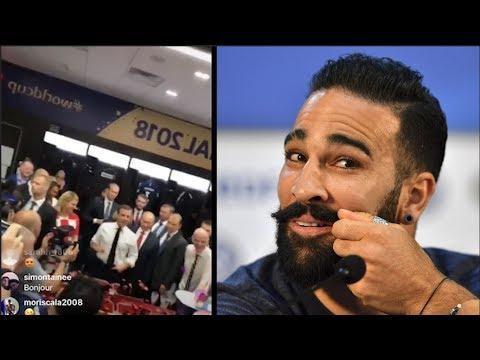 Après la finale, Adil Rami a chambré Emmanuel Macron dans le vestiaire