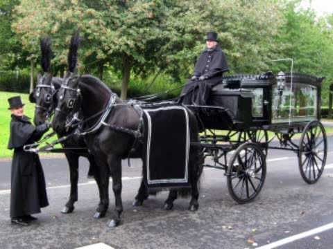 horse drawn hearse youtube